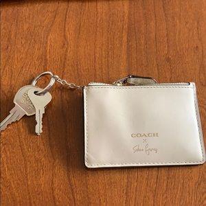 Coach key, wallet, pouch
